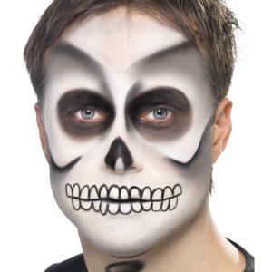 Maquillage squelette halloween blanc et noir