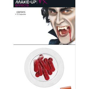Faux sang capsules vampire halloween