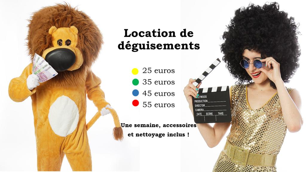 Location déguisements pas cher Paris