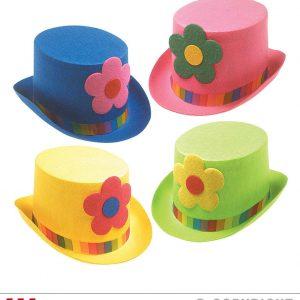 Chapeau de clown avec fleur