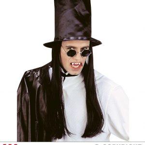 Chapeau haut de forme conte avec cheveux