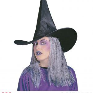 Chapeau sorciere cheveux gris