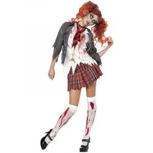 Costume écolière zombie