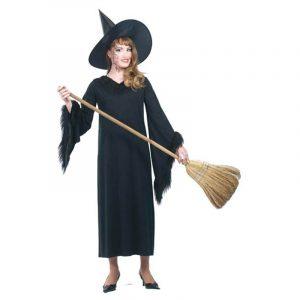 Costume sorcière tout en noir