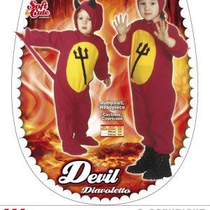 Diable rouge et jaune