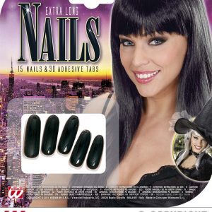 Faux ongles noirs