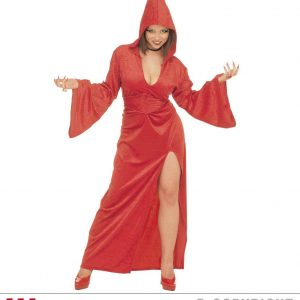 Femme gothique rouge