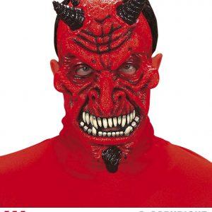 Masque demon corne noire