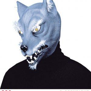 Masque loup poil peluche bleu