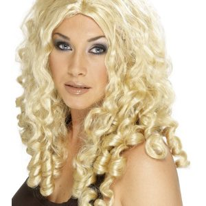 Perruque boucles anglaises blond