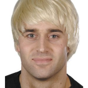 Perruque courte garçon blond