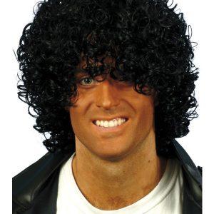 Perruque frisée noire Michael