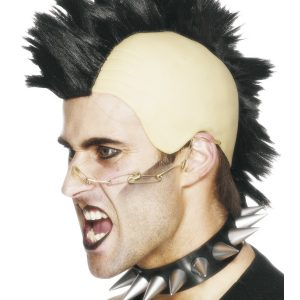 Perruque punk noir