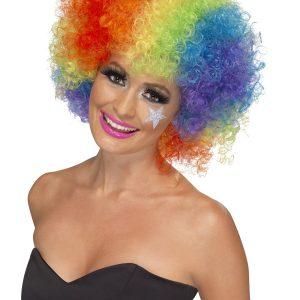 Perruque frisée multicolore