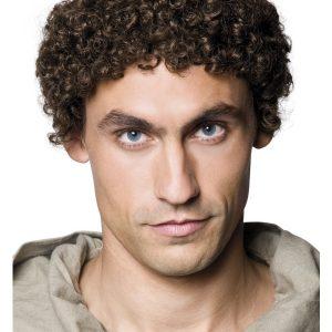 Perruque moine brun chauve