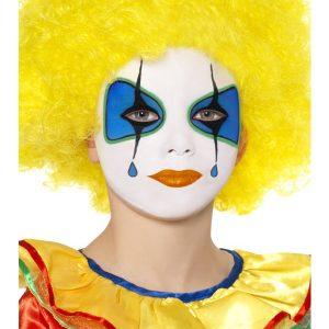 Perruque enfant clown jaune