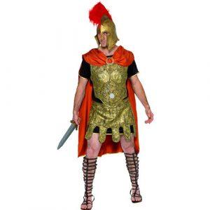 Costume gladiateur noir or et rouge