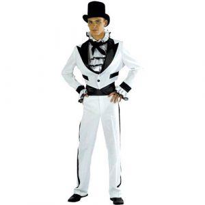 Costume romantique noir et blanc