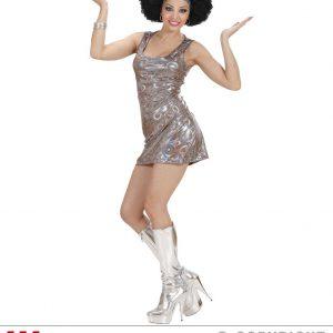 Déguisement danseuse 70's robe courte brillante