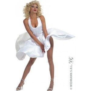 Disco robe blanche style Marylin