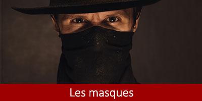 Masques Far west catégorie thème Western accessoires