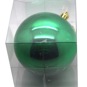 BOITE PVC 1 BOULE BRILLANTE PLASTIQUE 20 CM VERT