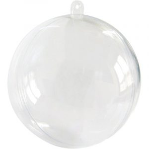 BOULE DE NOEL TRANSPARENTE A REMPLIR DIAMETRE 10 CM PVC