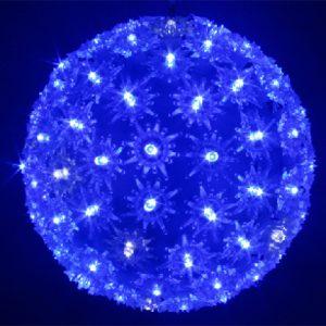 BOULE LUMINEUSE BLEU CLIGNOTANTE DIAM 15 CM ENV. 100 LED