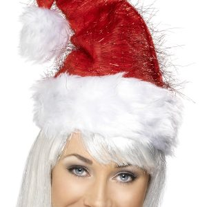 Bonnet de noël cheveux d'anges