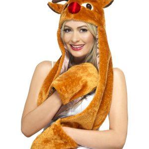 Bonnet et gant renne de Noël