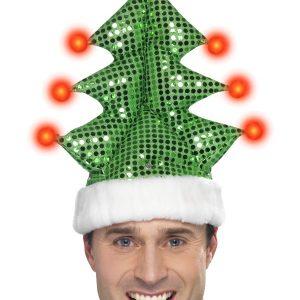 Bonnet sapin de Noël clignotant
