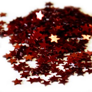 CONFETTIS DE TABLE ETOILES ROUGES 5MM-30G