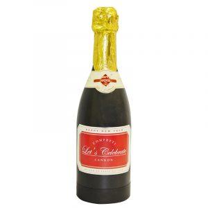 Canon confettis serpentin bouteille champagne