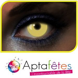 LENTILLES COULEUR GLOW UV YELLOW - DUREE 1 AN