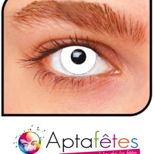 LENTILLES FANTAISIE - WHITE OUT - DUREE 1 AN