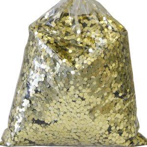 PAILLETTES GROSSES 2 MM DECORATION SACHET 1 KG GOLD