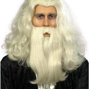 Perruque de père noël blonde