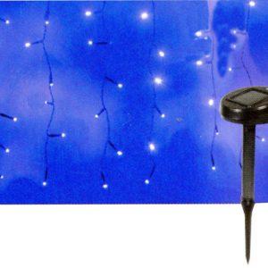 RIDEAU SOLAIRE 100 LED BLANC CLIGNOTANT - 190X60 CM - INTEXT