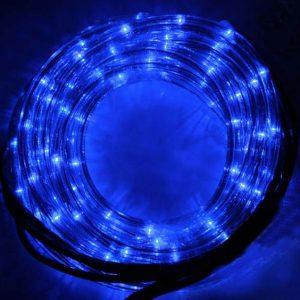 TUBE 96 LEDS BLEUES - 8 JEUX DE LUMIERES INTEXT 4M