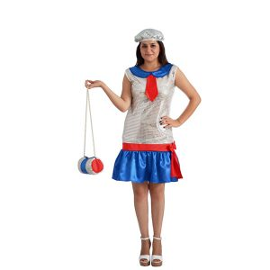 Costume charleston bleu blanc rouge