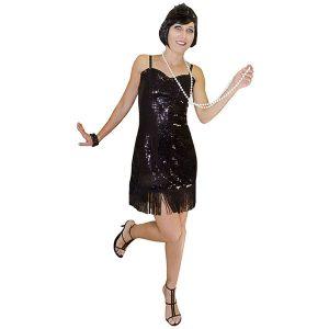 Costume charleston dame en noir