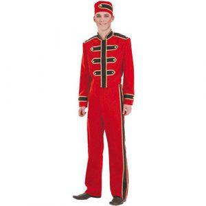 Costume groom rouge et noir