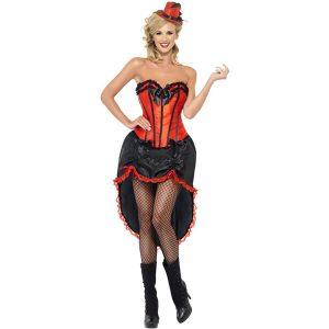 Danseuse burlesque rouge et noir