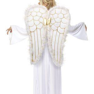 Déguisement ange femme grandes ailes
