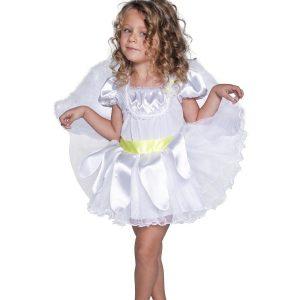 Déguisement ange de Noël enfant blanc tutu