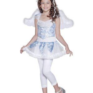 Déguisement ange de Noël enfant blanc et bleu