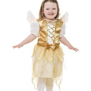 Déguisement ange de Noël enfant blanc et or