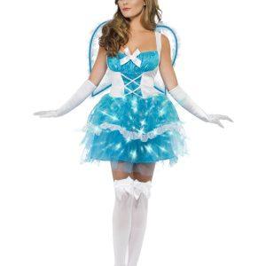 Déguisement ange sexy blanc et bleu