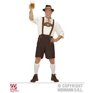 Déguisement bavarois blanc et marron