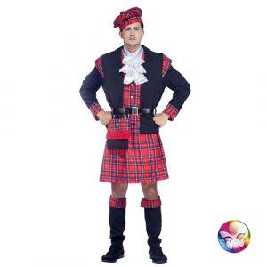 Déguisement écossais rouge et noir